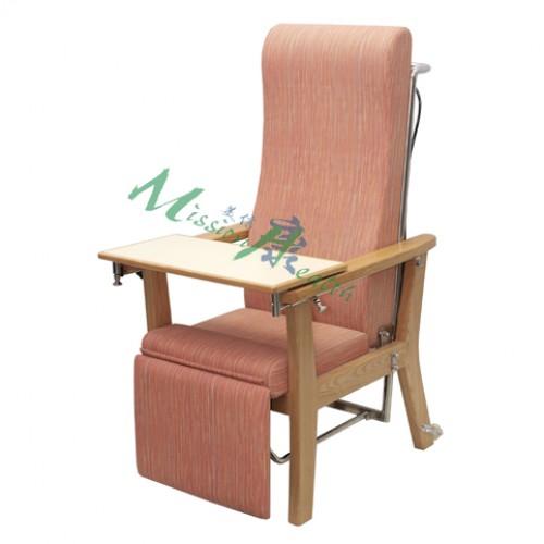 GA-1105  原木後傾高背椅(同步型)